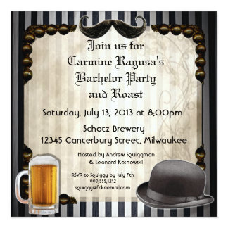 Gentleman's Bachelor Party Invitations, Version 7 Invitation