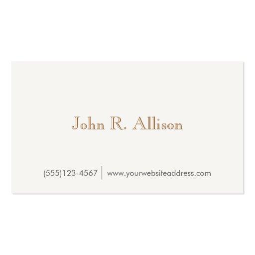 Gentleman's Faux Wood Backside  Business Card