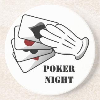 Gentleman's Sleight of Hand Poker Night Sandstone Coaster
