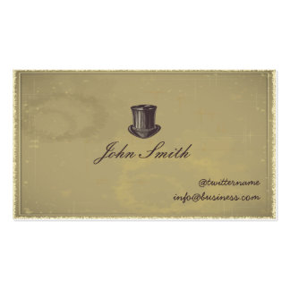 Gentleman's Top Hat Calling Card business card