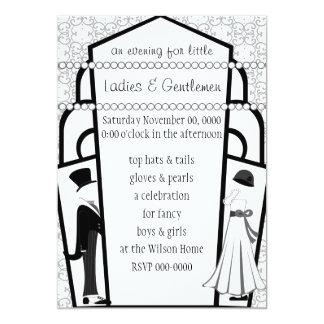 "Gentlemen and Ladies 5"" X 7"" Invitation Card"