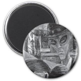 Gentlemen At Tea by David Barlow 2 Inch Round Magnet