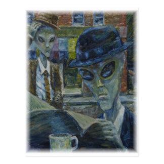 Gentlemen At Tea by David Barlow Postcard