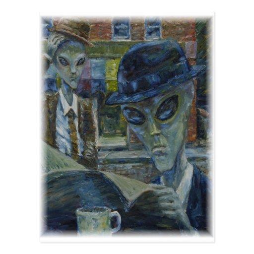 Gentlemen At Tea by David Barlow Post Cards
