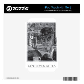 Gentlemen At Tea by David Barlow Skin For iPod Touch 4G