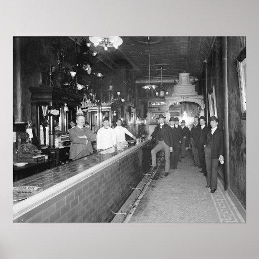 Gentlemen At The Bar, 1910 Posters