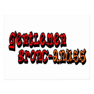 Gentlemen Bronc-anuss Broncos Postcard