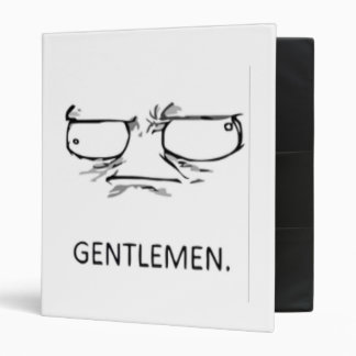 Gentlemen comic face 3 ring binders