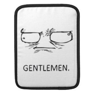 Gentlemen comic face iPad sleeves