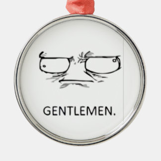 Gentlemen comic face metal ornament