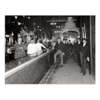 Gentlemen Drinking At The Bar, 1910 Postcard