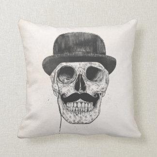 Gentlemen never die throw pillow
