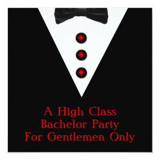 Gentlemen Only Bachelor Party Card