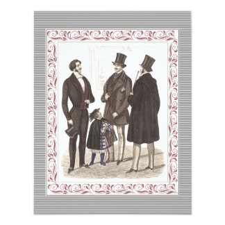Gentlemen Only Elegant Bachelor's Party 4.25x5.5 Paper Invitation Card