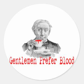 Gentlemen Prefer Blood Classic Round Sticker