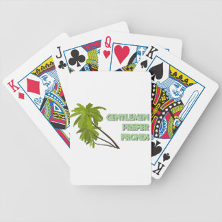 Gentlemen Prefer Fronds Bicycle Playing Cards