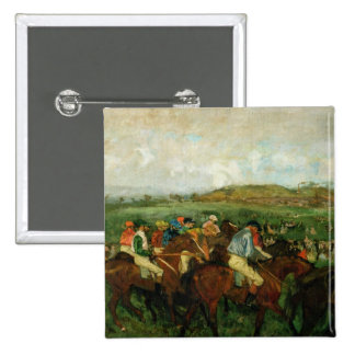 Gentlemen race. Before the Departure, 1862 2 Inch Square Button