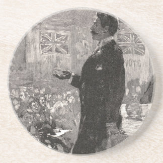 """Gentlemen,"" the candidate would beg Sandstone Coaster"