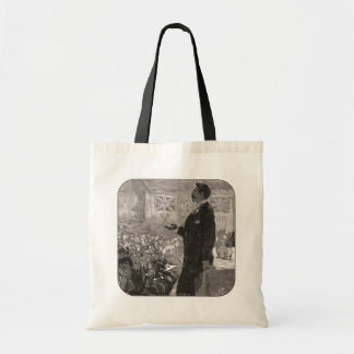 """Gentlemen,"" the candidate would beg Tote Bag"