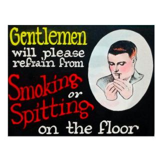 Gentlemen Will Please Refrain from Smoking Postcard