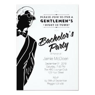 Gentlemen's Bachelor's Party Invitation