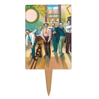 Gentlemen's Bowling League Cake Topper