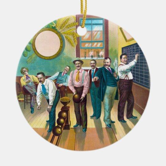 Gentlemen's Bowling League Ceramic Ornament