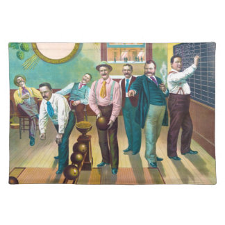 Gentlemen's Bowling League Cloth Placemat
