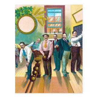 Gentlemen's Bowling League Post Card