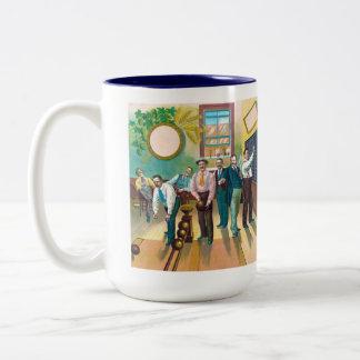 Gentlemen's Bowling League Two-Tone Coffee Mug