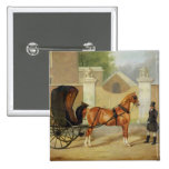 Gentlemen's Carriages: A Cabriolet, c.1820-30 (oil 2 Inch Square Button