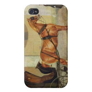 Gentlemen's Carriages: A Cabriolet, c.1820-30 (oil iPhone 4 Cover