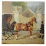 Gentlemen's Carriages: A Cabriolet, c.1820-30 (oil Large Square Tile