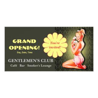 Gentlemen's Club - Card, Photo, Invite Customized Photo Card