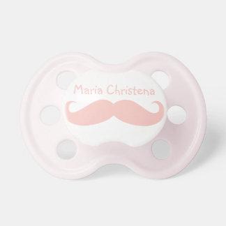 Gentlemens Handlebar Mustache Pacifier (Pink1)