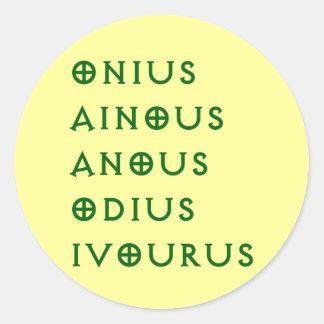 Gentlement Broncos Onius, Ainous, Odius, Ivourus Classic Round Sticker