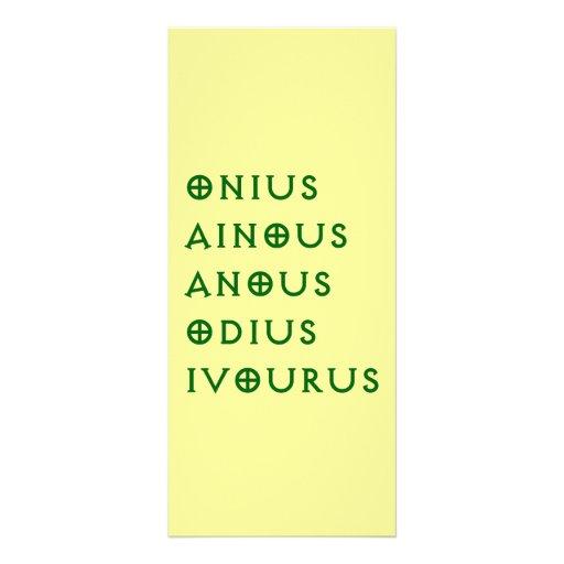 Gentlement Broncos Onius, Ainous, Odius, Ivourus Personalized Rack Card