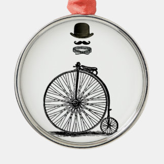 Gentleme's Penny Farthing Metal Ornament