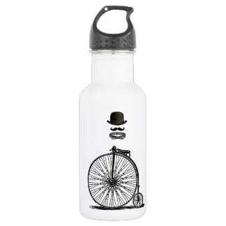 Gentleme's Penny Farthing Stainless Steel Water Bottle
