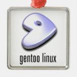 gentoo Linux Logo Christmas Ornaments