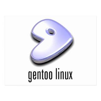 gentoo Linux Logo Postcard