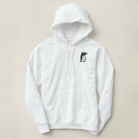Gentoo Penguin Embroidery Embroidered Basic Pullover Hoodie