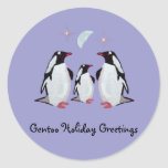 Gentoo Penguin Greetings Stickers