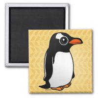 Cute Gentoo Penguin Square Magnet