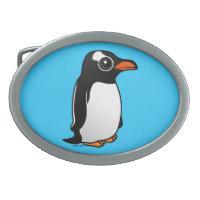 Cute Gentoo Penguin Oval Belt Buckle
