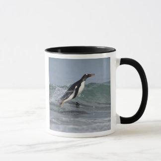 Gentoo Penguin Pygoscelis papua) coming in on Mug