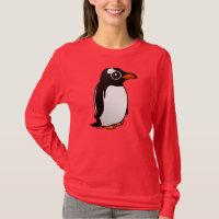 Cute Gentoo Penguin Women's Basic Long Sleeve T-Shirt