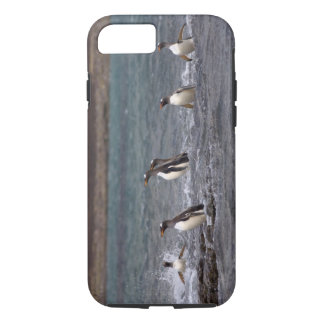 gentoo penguins, Pygoscelis papua, jumping out iPhone 7 Case