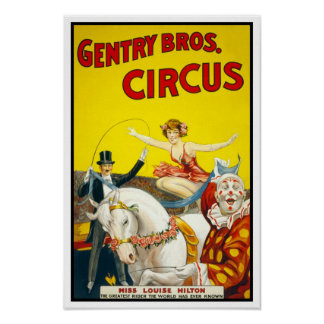 Gentry Bros. Circus, 1920 Poster