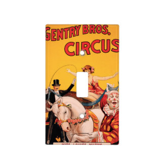 Gentry Bros. Circus Light Switch Cover